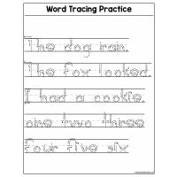 Sample - Word Tracing Practice - Original