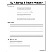 Sample - My Address & Phone Number