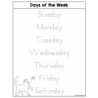 Sample - Days of the Week