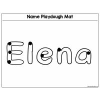 Sample - Name Playdough Mat